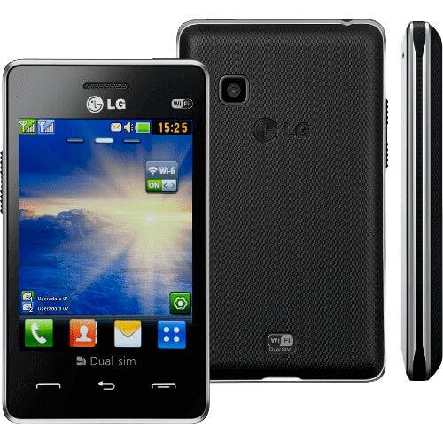 """Celular LG T375 - Dual Chip - Wi-Fi - Tela de 3.2"""" - CÂmera de 2MP - Preto"""