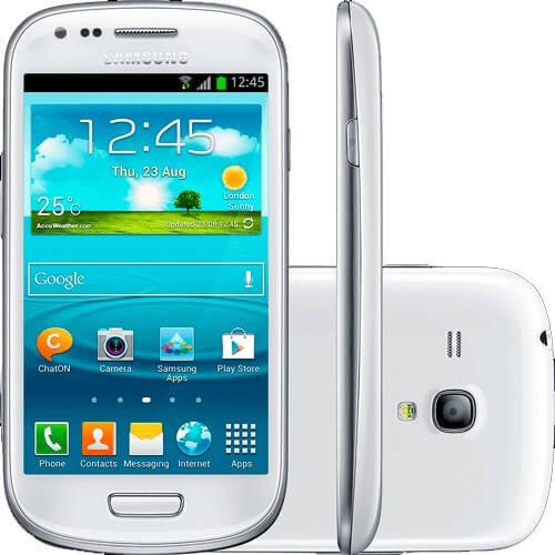 """Smartphone Samsung Galaxy S3 Mini Branco - 3G - 8GB - Wi-Fi - 4"""" - 5MP - Android 4.2 - Desbloqueado"""