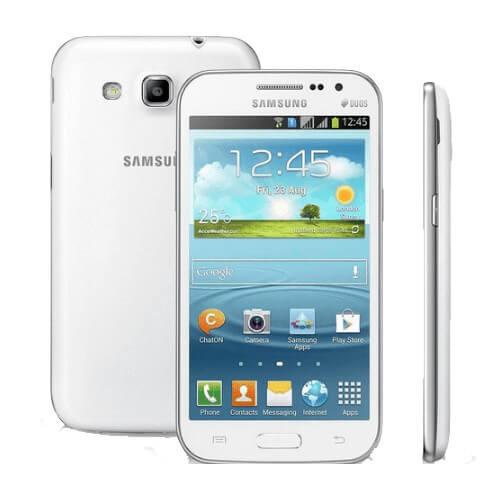 "Smartphone Samsung Galaxy Win Duos Branco - 3G - 8GB - 5MP - Android 4.1 - Quad-Core - Tela 4.7"" - Desbloqueado"