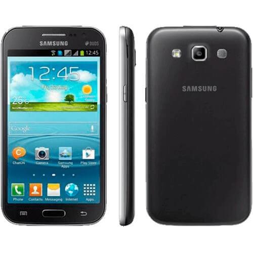 "Smartphone Samsung Galaxy Win Duos Cinza - 3G - 8GB - 5MP - Android 4.1 - Quad-Core - Tela 4.7"" - Desbloqueado"