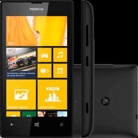 "Smartphone Nokia Lumia 520 Preto - 8GB - GPS - 5MP - Tela 4"" - Windows Phone 8 - Desbloqueado"