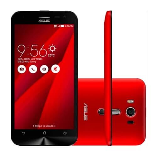 "Smartphone ASUS ZenFone 2 Laser ZE550KL-1C060WW Vermelho - Qualcomm Snapdragon - 4G LTE - 16GB - RAM 2GB - Tela 5.5"" - Android 5"