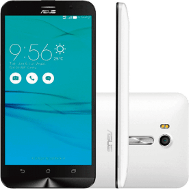 "Smartphone Asus Zen Fone Go - Dual Chip - 16GB - 8MP - Tela 5"" 8MP - 3G - Branco - Android 5.0"