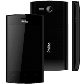 "Smartphone Philco Phone 350 Preto - Dual Chip - GPS - Tela de 3.5"" - 3MP - Android 4.0"