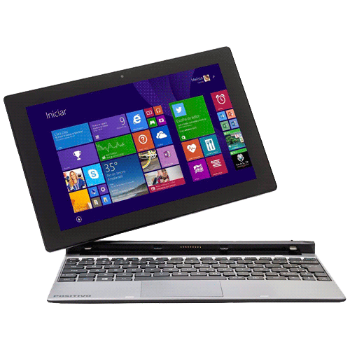 "Notebook 2 em 1 Positivo ZX3020 - Quad Core - RAM 1GB - SSD 16GB - Tela 10.1"" - Windows 8.1"