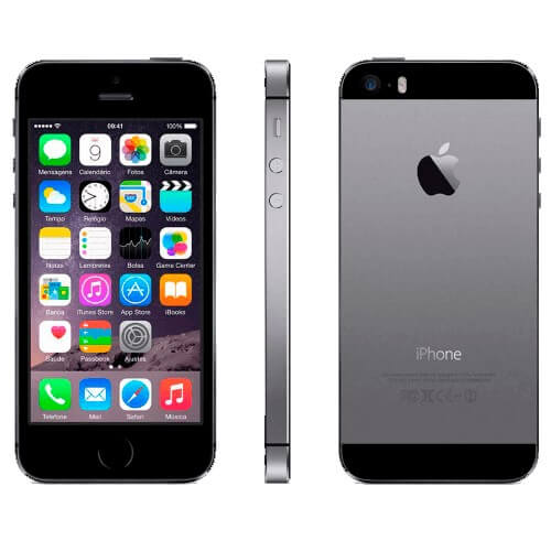 "iPhone 5s 16GB Preto - Apple - iOS 8 - 4G - Wi-Fi - Tela 4"" - Câmera de 8MP - Desbloqueado"