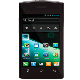 "Smartphone Philco Phone 350B- 3G - Dual Chip - GPS - Tela de 3.5"" - 3MP - Android 4.0 - Preto"