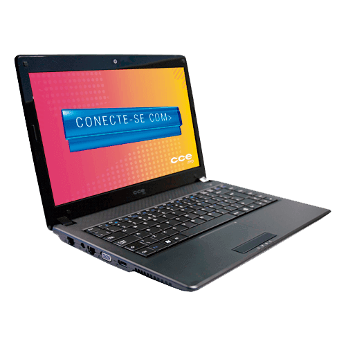 "Notebook CCE Win BP5L - Preto - Intel Pentium - RAM 2GB - HD 500GB - LED 14"" - Windows 7"