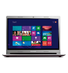 "Notebook Lenovo S400-80BY0001BR - RAM 2GB - HD 500GB - Intel Celeron 1007U - LED 14"" - Windows 8 - Prata"