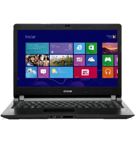 "Notebook CCE Ultra Thin U25 - Intel Celeron 847 - HD 500GB - RAM 2GB - LED 14"" - Windows 8"