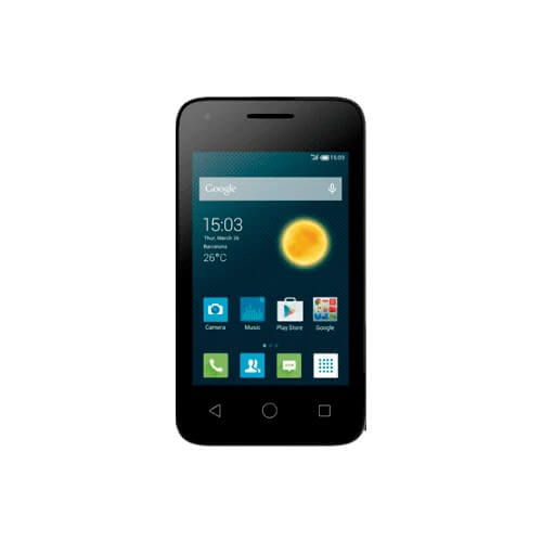 "Smartphone Alcatel Pixi 3 OT-4009E - Preto - Dual-Chip - 5MP - 4GB - Tela 3.5"" - Android 4.4"