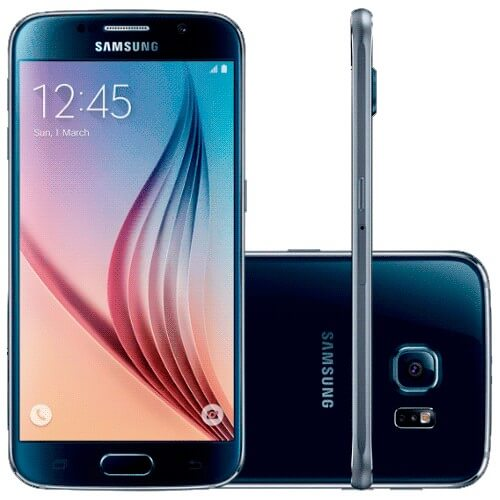"Smartphone Samsung Galaxy S6 Azul - 32GB - 4G LTE - Octa Core - Câmera 16MP - Super AMOLED 5.1"" - Android 5 Lollipop"