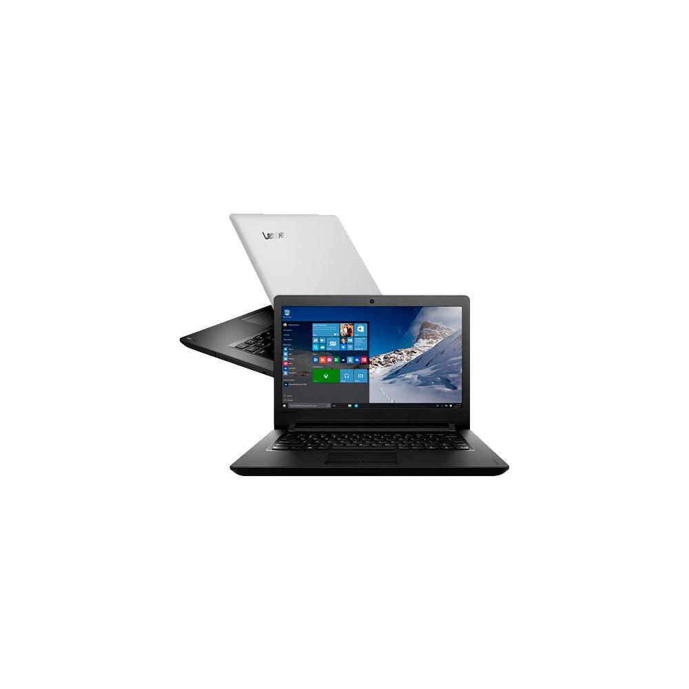 Notebook Lenovo Ideapad 100-14IBR - Dual Core N3060 @ 1.6GHz - 4GB - 500GB - Windows 10 Home
