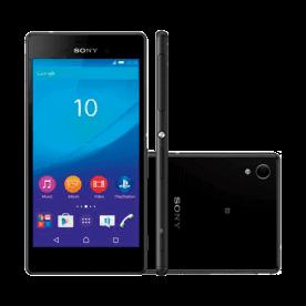"""Smartphone Sony Xperia M4 Aqua E2306 Preto 4G - 16GB - 5"""" - Android 5.0.1 Lollipop"""
