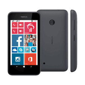 "Smartphone Nokia Lumia 530 - Preto - Dual-Chip - 4GB - 3G - 5MP - Tela 4"" - Windows Phone 8.1"
