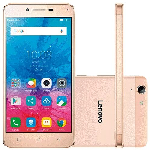 Smartphone Lenovo Vibe K5 - A6020L36 - Dourado - 16GB - 4G - Dual Chip - 13MP - Android 5.1
