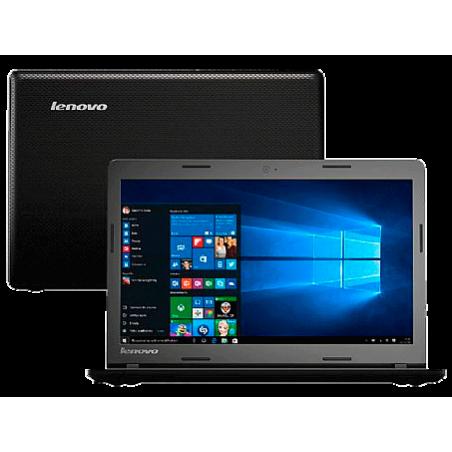 "Notebook Lenovo Ideapad 80R7003VBR Preto - Intel Celeron - RAM 2GB - HD 500GB - Tela 14"" - Windows 10"
