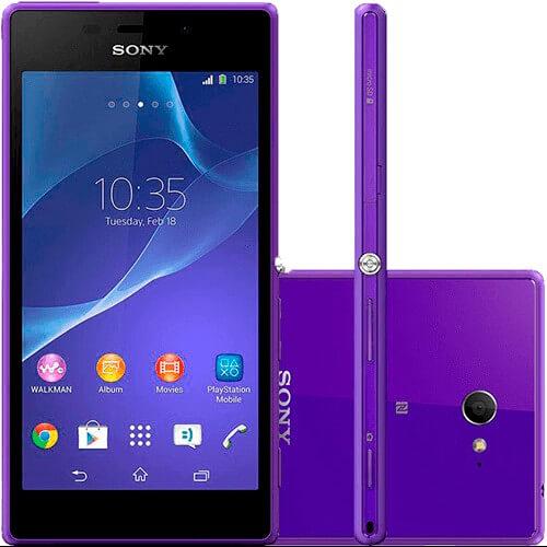 "Smartphone Sony Xperia M2 D2303 Roxo - 8MP - Desbloqueado - Tela 4.8"" - Android 4.3"