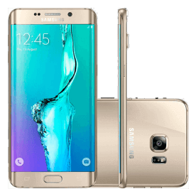 "Smartphone Samsung Galaxy S6 Edge Plus Dourado - 32GB - 16MP - 4G - 5.7"" - Android 5.1"