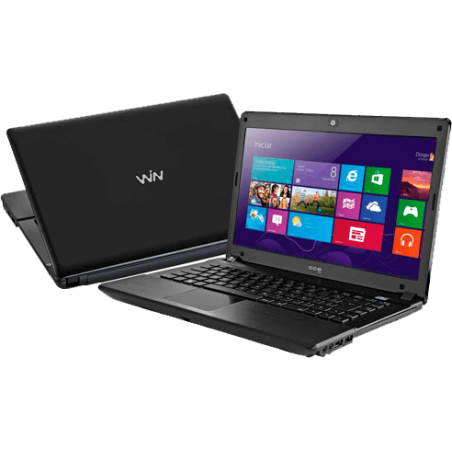 "Notebook CCE X345 - Intel Core i3-2310M - RAM 4GB - HD 500GB - Tela 14"" - Windows 8 Single language - Preto"