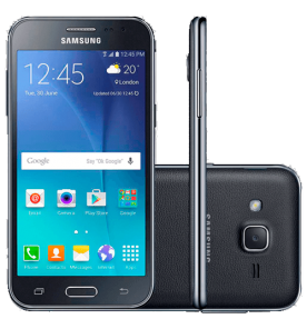 "Smartphone Samsung Galaxy J2 - Duos- Preto - 4G LTE - 8GB - Tela 4,7"" - Android 5.1"