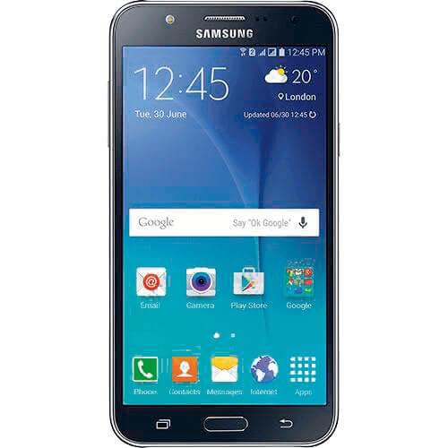 "Smartphone Samsung Galaxy J7 Duos- Preto - 4G LTE - 16GB - Tela 5.5"" -Android 5.1"