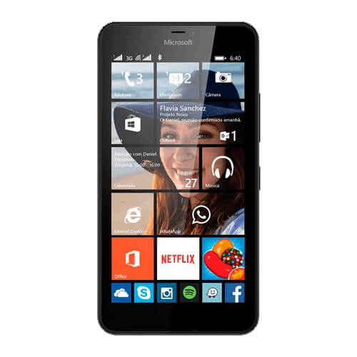 "Smartphone Nokia Lumia 640 XL - Preto - 8GB - 13MP - Tela 5.7"" - Windows Phone 8.1"