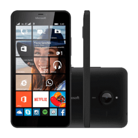 "Smartphone Nokia Lumia 640 XL - Preto - 8GB - 13MP - Tela 5.7"" - Windows Phone 8.1"