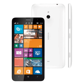 "Smartphone Nokia Lumia 1320 Branco - 4G - 8GB - Dual Core 1.7GHz - 5MP - Tela 6"" - Windows Phone 8"