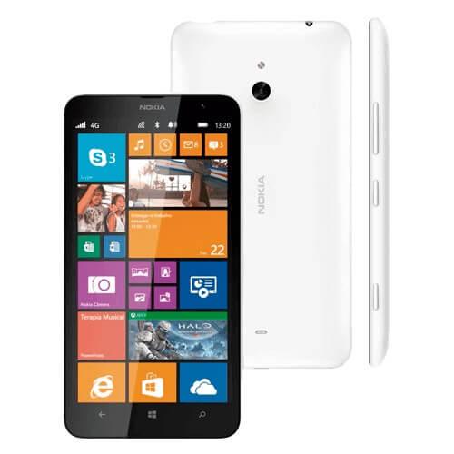 "Smartphone Nokia Lumia 1320 Branco - 4G - 8GB - Dual Core 1.7GHz - 5MP - Tela 6"" - Windows Phone 8"