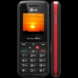 Celular LG GS107 Preto/Vermelho - Viva-Voz - Rádio FM