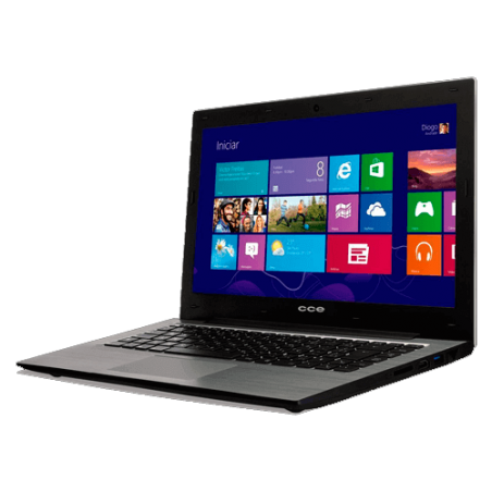 "Notebook CCE Ultra Thin S23B - Intel Dual Core Celeron 847 - HD 320GB - RAM 2GB - LED 13.3"" - Windows 8"