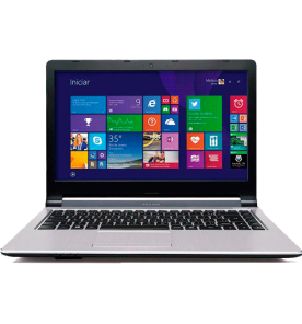 "Notebook Positivo Stilo XR2998 - Intel Celeron - RAM 2GB - HD 320GB - Tela 14"" - Windows 8.1"