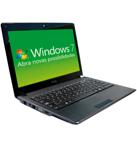 "Notebook CCE WINBPS2 - Intel Pentium T4300 - RAM 2GB - HD 200GB - Tela LED 14"" - Windows 7 Starter"