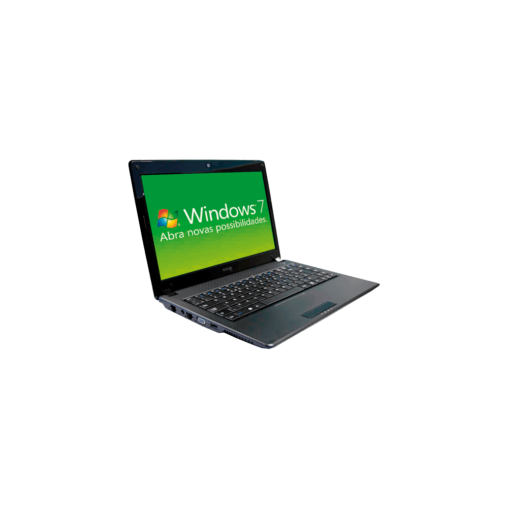 "Notebook CCE WINBPS2 - Intel Pentium T4300 - RAM 2GB - HD 200GB - Tela LED 14"" - Windows 7 Starter"