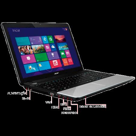 Notebook Acer E1-571-6611 - 15.6'' - Intel Core i5-2450M - Ram 6GB - HD 500GB - Windows 8