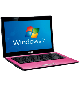 Notebook Asus K43E-VX280R - Intel Core i5-2410M - RAM 6GB - HD 640GB - LED de 14'' - Windows 7 Home Basic - Rosa