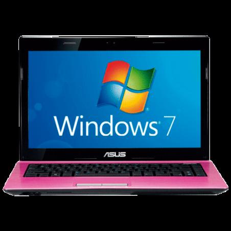Notebook Asus K43E-VX280R - Intel Core i5-2410M - RAM 6GB - HD 640GB - LED de 14'' - Windows 7 Home Basic - Rosa