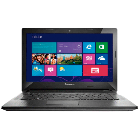 "Notebook Lenovo G40-80GA000HBR - RAM 4GB - Intel Core i3-4005U - HD 500GB - LED 14"" - Windows 8.1 - Prata"
