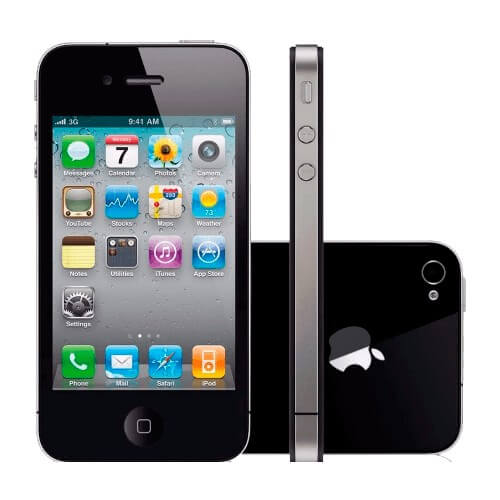 "iPhone 4 32GB Apple - 3G - Câmera de 5MP - Wi-Fi - iOS 6 - Tela 3.5"" - Desbloqueado - Preto"