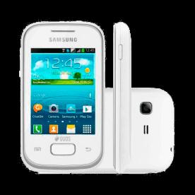 "Smartphone Samsung Galaxy Pocket Plus GT-S5301 - 2MP - Tela 2,8"" - Android 4.0 - Wi-Fi - Branco"