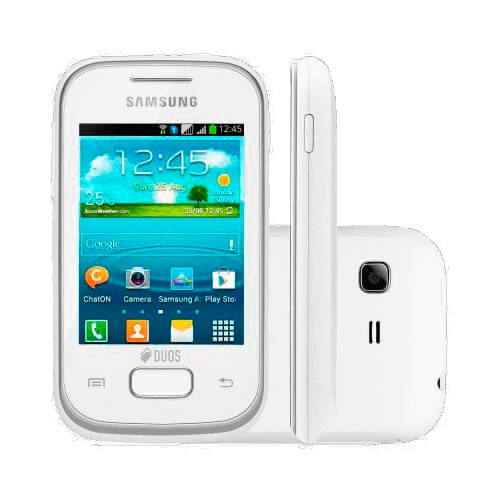 "Smartphone Samsung Galaxy Pocket Plus GT-S5301 - 2MP - Tela 2,8"" - Android 4.0 - Wi-Fi - Branco"