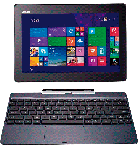 "Notebook 2 em 1 Asus T100TA-DK089B Transformer Book - Quad Core - RAM 2GB - HD 500GB - LED 10"" Touchscreen - Windows 8.1"