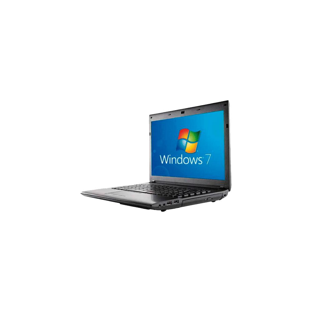 "Notebook CCE I30S - Intel Atom Dual Core D2500 - RAM 2GB - HD 320GB - Tela 14"" - Windows 7 Starter - Preto"