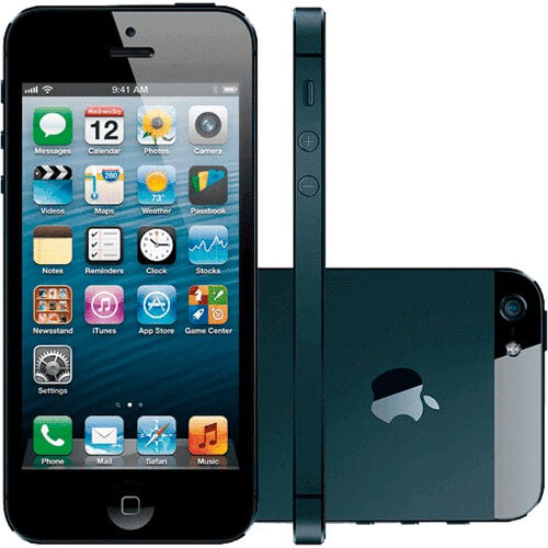 "iPhone 5 16GB Preto - Apple - iOS 6 - Câmera de 8MP - 3G - Wi-Fi - GPS - Tela Multi-Touch 4"" - Desbloqueado"