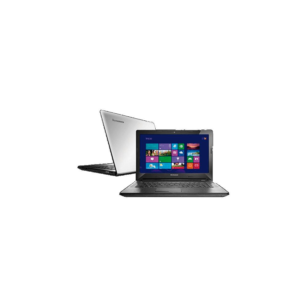 "Notebook Lenovo G40-80GA000DBR - RAM 4GB - HD 1TB - Intel Core i5-4200U - LED 14"" - Windows 8.1 - Prata"