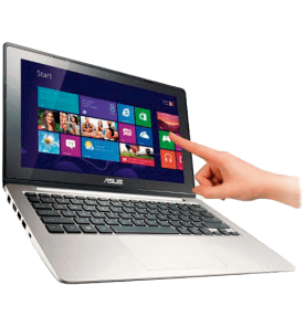 "Notebook Asus Vivobook X202E-CT265H - Intel Core i3-2365M - RAM 4GB - HD 500GB - LED 11.6"" - Touchscreen - Windows 8"