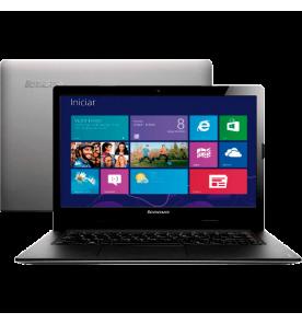 "Notebook Lenovo S400-963064P Prata - Intel Core i3-2375M - RAM 4GB - HD 500GB - LED 14"" - Windows 8"