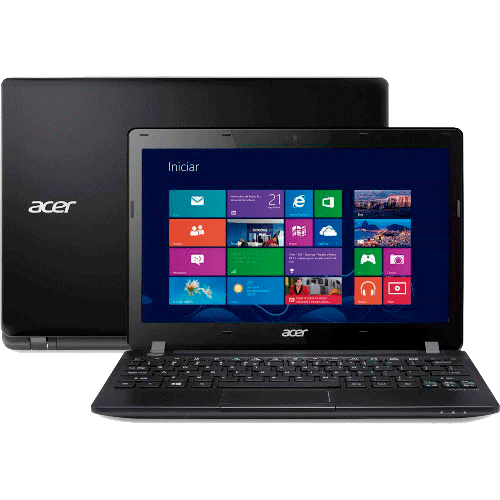 Notebook Acer V5-123-3824 - AMD E1-2100 - RAM 2GB - HD 320GB - LED 11.6'' - Windows 8.1