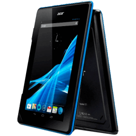"Tablet Acer Iconia B1-A71_CK_08A com processador Dual Core, memória RAM de 512MB, 8GB de HD, tela touch de 7"", Bluetooth 4.0 e sistema operacional Android."